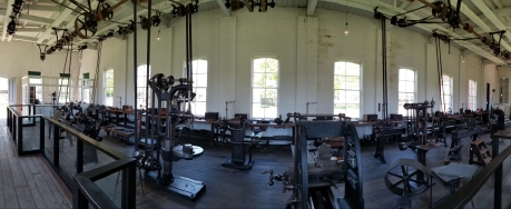 Interior of a part of Thomas Edison's Menlo Park Laboratory.