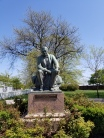 The statue of Thomas Edison in Greenfield Village.