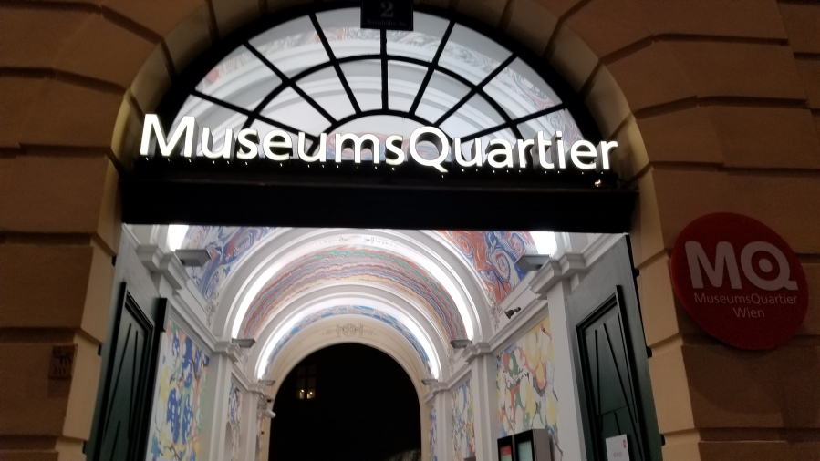 Entrance to the MuseumsQuartier
