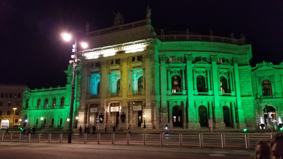 The exterior of the Burgtheater in central Vienna.