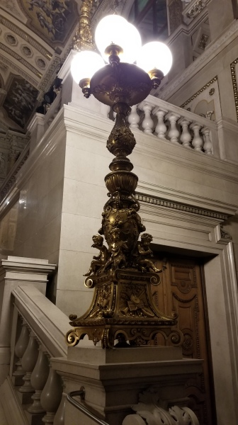 A light fixture inside the Burgtheater. The detail work on these is, frankly, incredible.