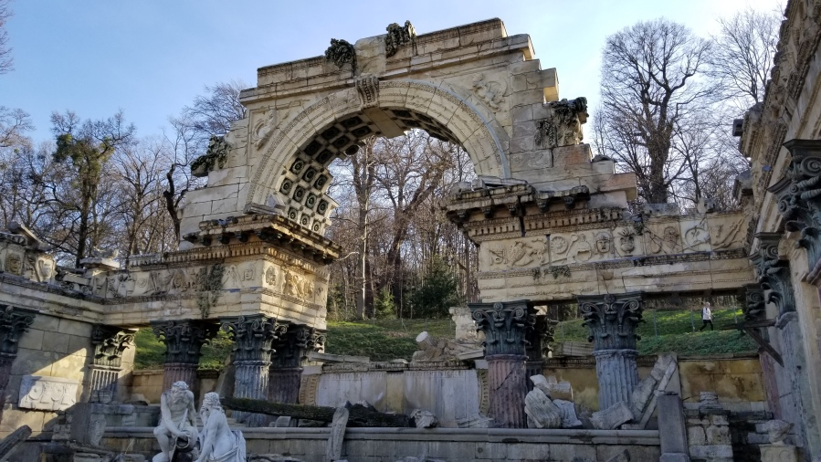 Part of the Roman Ruins at Schönbrunn.