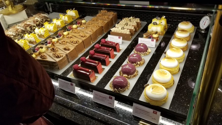 Some pastries in Cafe Central. I'll be honest, this picture is to make people jealous.