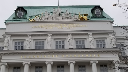 The original building on the TU Wien campus.