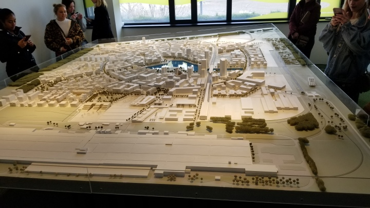The master plan for Aspern as it stands now. The bottom left area is mostly complete, while the far portion is still in development and construction.