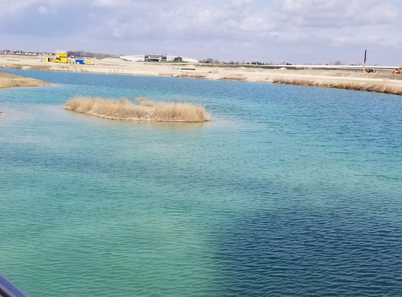 The Aspern lake. The water is extremely pure, due to being a mix of water from two nearby groundwater streams.