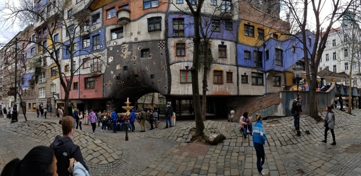 Hundertwasserhaus, an apartment complex designed by architect Friedensreich Hundertwasser.