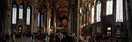 The interior of St. Stephen's Cathedral.