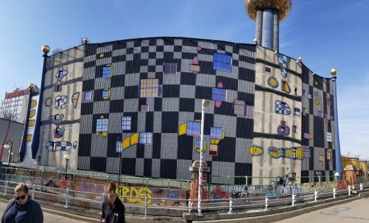 The district heating plant designed by Hundertwasser.