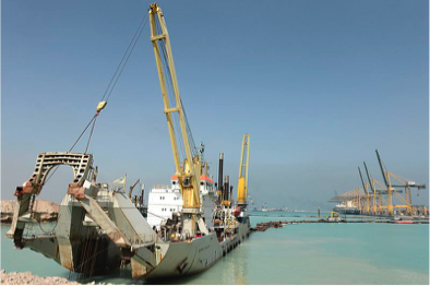 Figure 2: The King Abdullah Port in KAEC (HUTA Group photographer, 2015).
