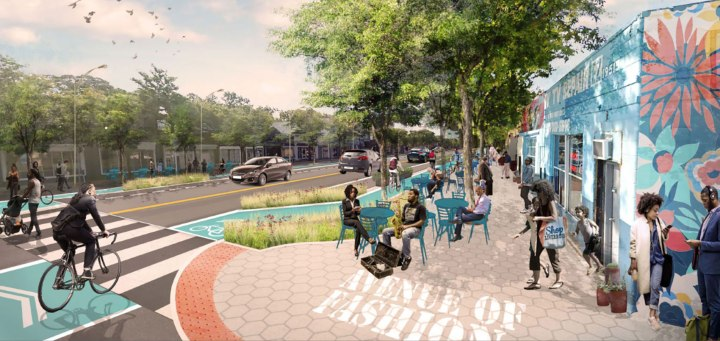 The plan for the Avenue of Fashion revitalization in the Livernois-McNichols neighborhood.