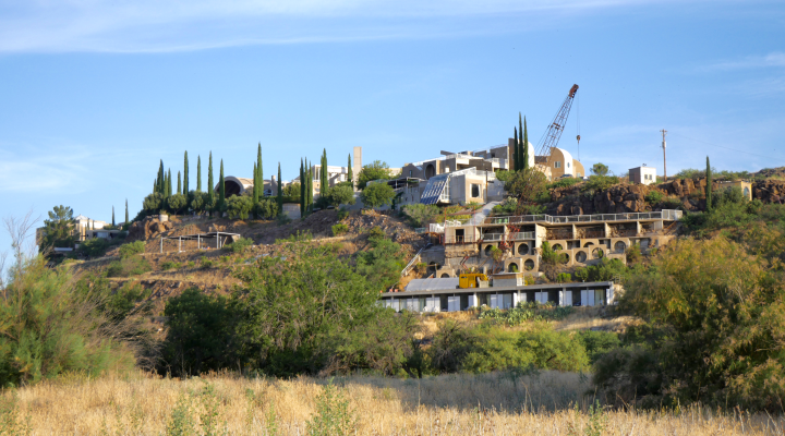 A view of the cliffs at Arcosanti in 2017. Credit: By Carwil - Own work, CC BY-SA 4.0, https://commons.wikimedia.org/w/index.php?curid=60360895