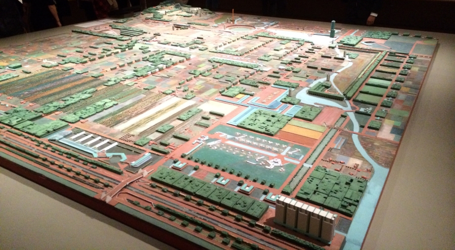 The model of Broadacre City, as seen at the Museum of Modern Art in 2014. Credit: Shinya Suzuki on Flickr