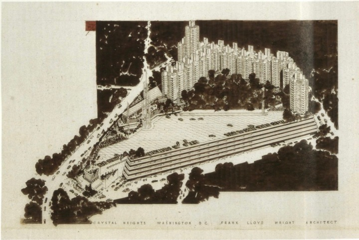 One of the original sketches of Crystal City. Credit: Frank Lloyd Wright: From Within Outward.