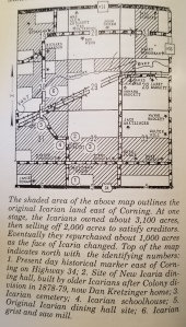 A map of the Icarian lands in Adams County.
