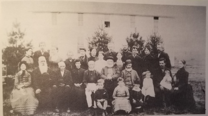 The last known picture of the New Icarian Colony, taken September 5th, 1887. 27 members are pictured.