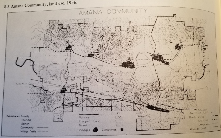Map of the Amana property in 1936.