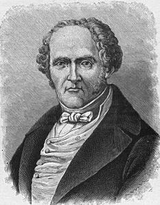 An drawing of Charles Fourier